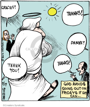 Comic Strip John Deering  Strange Brew 2014-09-19 God