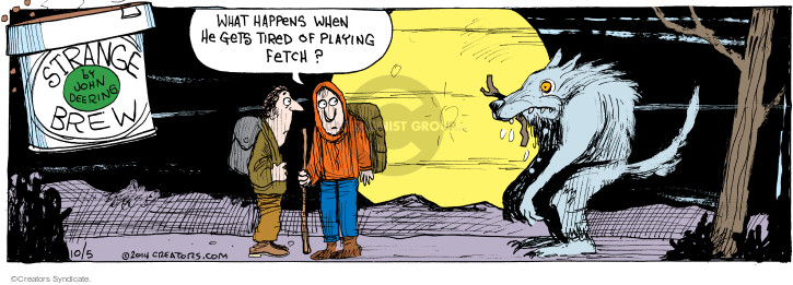 Comic Strip John Deering  Strange Brew 2014-10-05 playing
