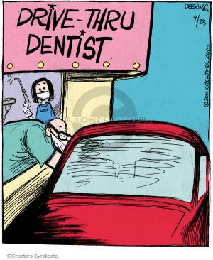Comic Strip John Deering  Strange Brew 2014-09-23 drive-thru