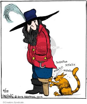 Comic Strip John Deering  Strange Brew 2014-09-29 cat scratcher