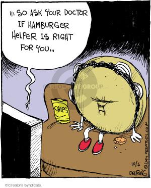 Cartoonist John Deering  Strange Brew 2014-10-06 hamburger