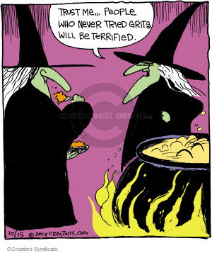 Cartoonist John Deering  Strange Brew 2014-10-15 food sample