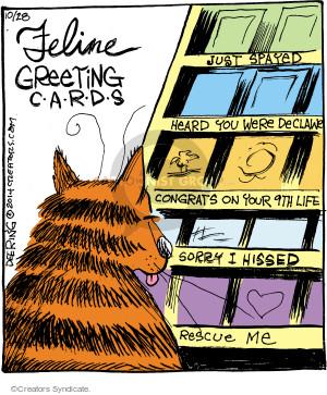 Comic Strip John Deering  Strange Brew 2014-10-28 card store
