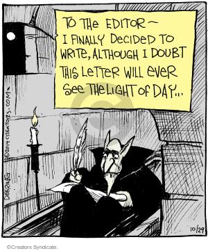 Comic Strip John Deering  Strange Brew 2014-10-29 writing