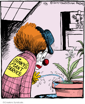 Comic Strip John Deering  Strange Brew 2014-11-03 houseplant