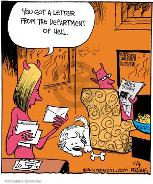 Comic Strip John Deering  Strange Brew 2014-11-04 department