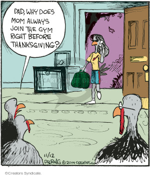 Comic Strip John Deering  Strange Brew 2014-11-12 Thanksgiving