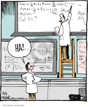 Comic Strip John Deering  Strange Brew 2014-12-04 math science