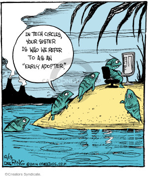 Comic Strip John Deering  Strange Brew 2014-12-13 amphibian