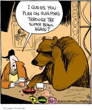 Comic Strip John Deering  Strange Brew 2015-01-02 Super Bowl