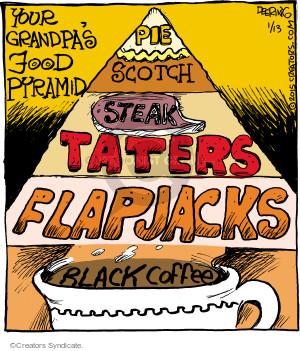 Comic Strip John Deering  Strange Brew 2015-01-13 food pyramid