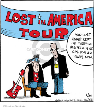 Comic Strip John Deering  Strange Brew 2015-01-24 global positioning system