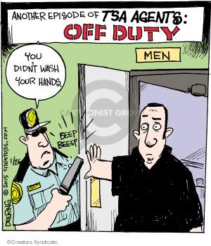 Comic Strip John Deering  Strange Brew 2015-01-26 airport security