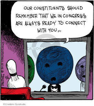 Comic Strip John Deering  Strange Brew 2015-02-06 bowling ball