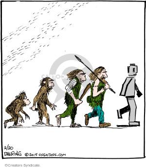 Comic Strip John Deering  Strange Brew 2015-02-20 primate