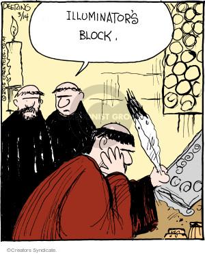 Comic Strip John Deering  Strange Brew 2015-03-14 writer's block