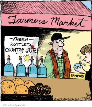 Comic Strip John Deering  Strange Brew 2015-03-23 farmers market