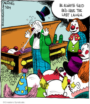 Comic Strip John Deering  Strange Brew 2015-03-24 trick