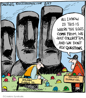 Comic Strip John Deering  Strange Brew 2015-03-27 mysterious