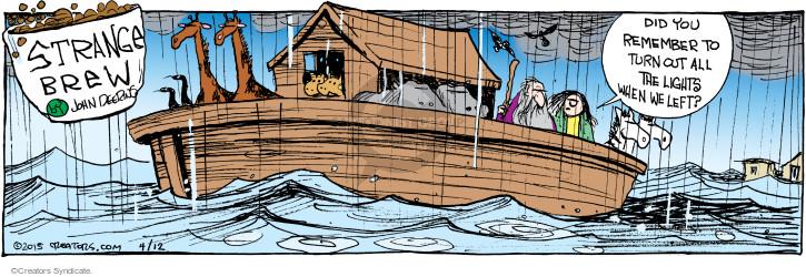 Comic Strip John Deering  Strange Brew 2015-04-12 turn