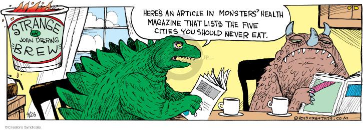 Cartoonist John Deering  Strange Brew 2015-04-26 city