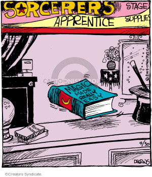 Cartoonist John Deering  Strange Brew 2015-04-30 magic