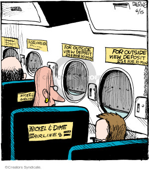 Comic Strip John Deering  Strange Brew 2015-06-15 travel fee