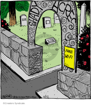 Comic Strip John Deering  Strange Brew 2015-06-17 shady