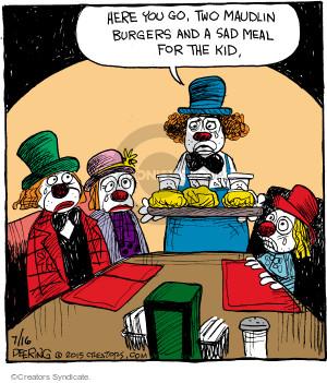Comic Strip John Deering  Strange Brew 2015-07-16 fast food hamburger