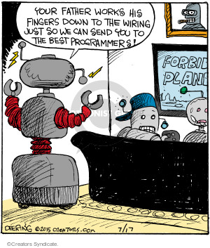 Comic Strip John Deering  Strange Brew 2015-07-17 family
