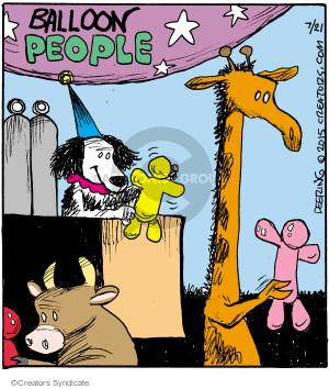 Balloon people.