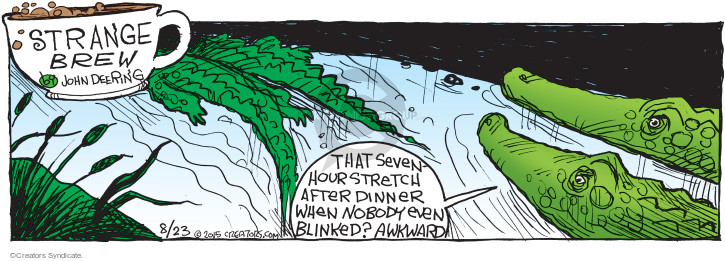 Comic Strip John Deering  Strange Brew 2015-08-23 dinner guest