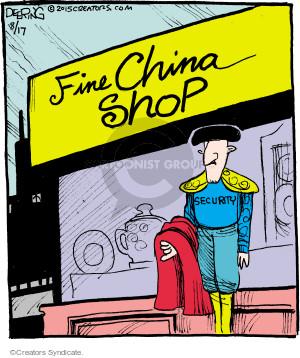Cartoonist John Deering  Strange Brew 2015-08-17 bull