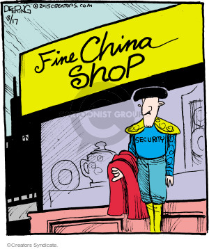 Cartoonist John Deering  Strange Brew 2015-08-17 guard