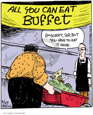 Comic Strip John Deering  Strange Brew 2015-08-29 buffet