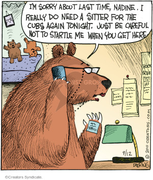 Comic Strip John Deering  Strange Brew 2015-09-12 bear attack