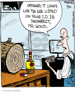 Cartoonist John Deering  Strange Brew 2015-09-22 cigarette