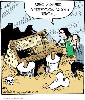 Comic Strip John Deering  Strange Brew 2015-10-28 movie theater
