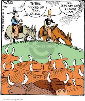 Comic Strip John Deering  Strange Brew 2015-11-17 rancher