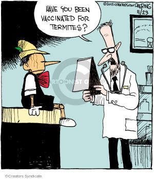 Comic Strip John Deering  Strange Brew 2015-11-23 pest