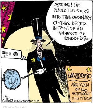 Comic Strip John Deering  Strange Brew 2015-11-24 trick