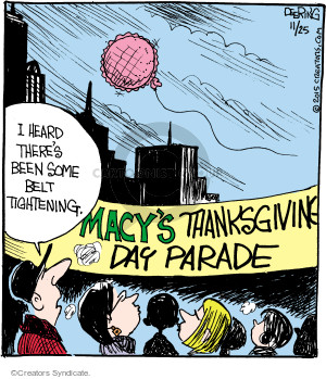 Cartoonist John Deering  Strange Brew 2015-11-25 Thanksgiving