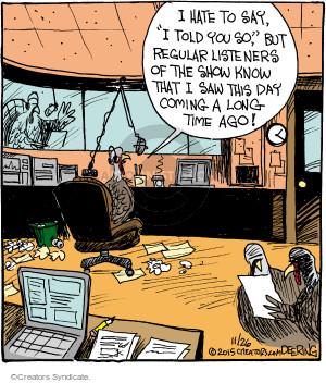 Comic Strip John Deering  Strange Brew 2015-11-26 Turkey