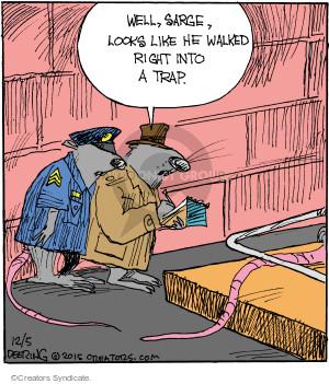 Comic Strip John Deering  Strange Brew 2015-12-05 crime scene