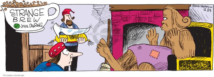 Comic Strip John Deering  Strange Brew 2015-12-13 Bigfoot