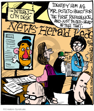 Comic Strip John Deering  Strange Brew 2015-12-18 toy
