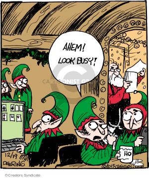 Cartoonist John Deering  Strange Brew 2015-12-19 Santa Claus