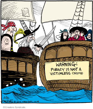 Comic Strip John Deering  Strange Brew 2015-12-21 crime