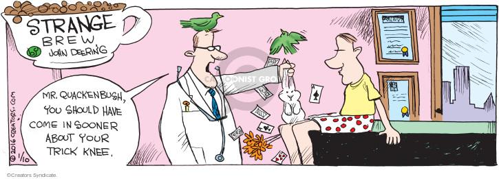 Cartoonist John Deering  Strange Brew 2016-01-10 magic