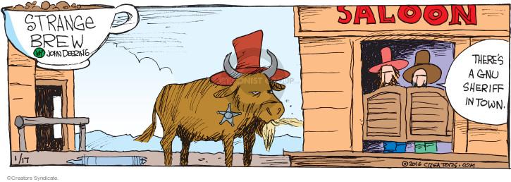 Cartoonist John Deering  Strange Brew 2016-01-17 bull
